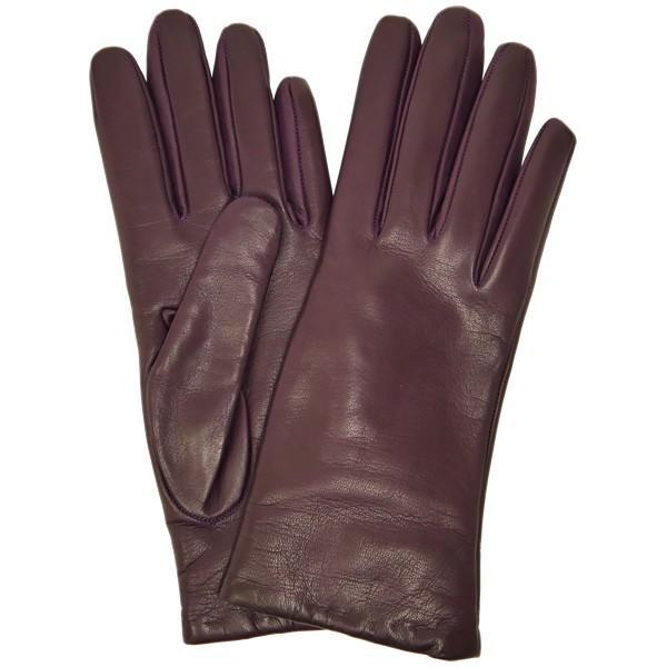 手袋 シンプル レディース レディス 暖かい カシミヤライニング イタリア製 本革 ナッパレザー グローブ carron 11