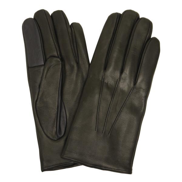 スマホ手袋 メンズ Men's 革手袋 スマートフォン対応 カシミヤライニング イタリア製 お洒落 本革 レザーグローブ シンプル|carron|10