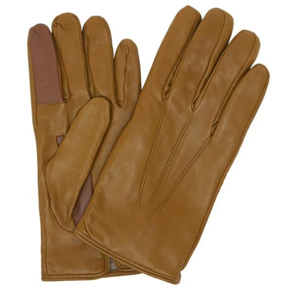 スマホ手袋 メンズ Men's 革手袋 スマートフォン対応 カシミヤライニング イタリア製 お洒落 本革 レザーグローブ シンプル|carron|13