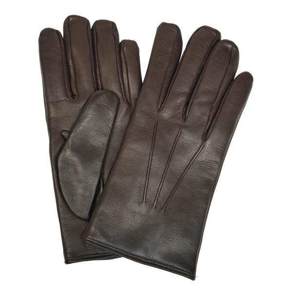 スマホ手袋 メンズ Men's 革手袋 スマートフォン対応 カシミヤライニング イタリア製 お洒落 本革 レザーグローブ シンプル|carron|11
