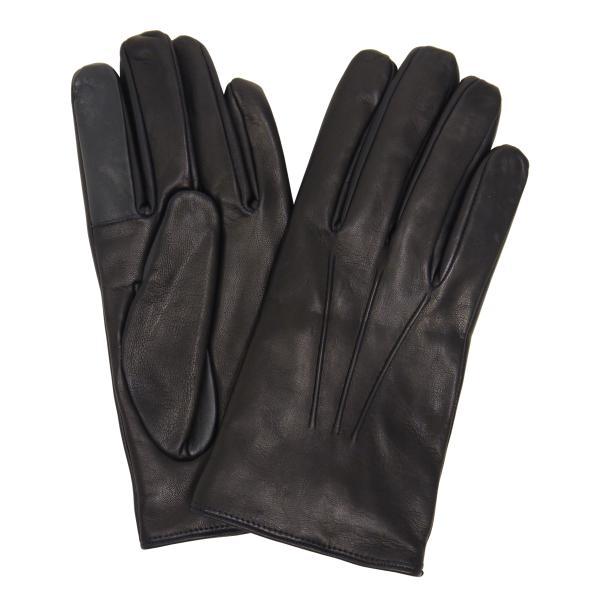 スマホ手袋 メンズ Men's 革手袋 スマートフォン対応 カシミヤライニング イタリア製 お洒落 本革 レザーグローブ シンプル|carron|12