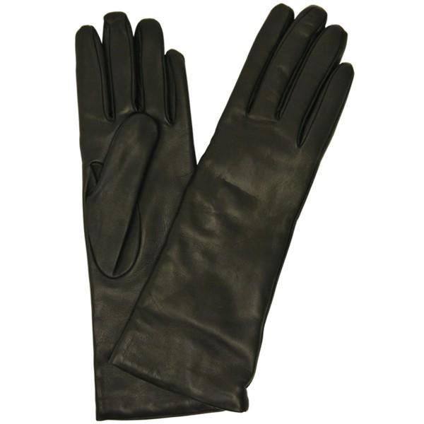 手袋 レディース レディス 暖かい カシミヤライニング イタリア製 本革 ナッパレザー グローブ シンプル セミロング ミドルレングス|carron|12