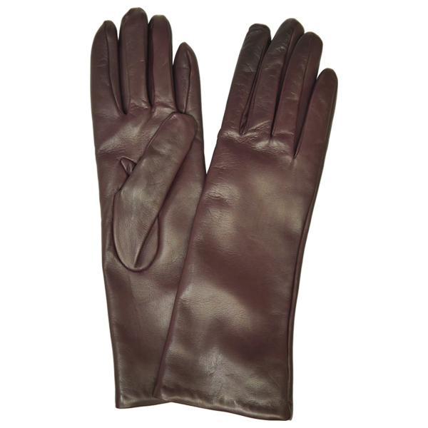 手袋 レディース レディス 暖かい カシミヤライニング イタリア製 本革 ナッパレザー グローブ シンプル セミロング ミドルレングス|carron|14