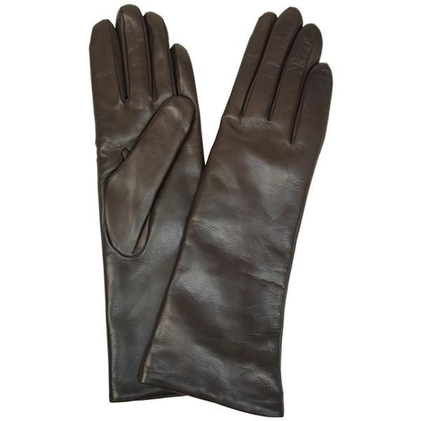 手袋 レディース レディス 暖かい カシミヤライニング イタリア製 本革 ナッパレザー グローブ シンプル セミロング ミドルレングス|carron|13