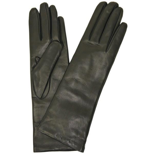 手袋 レディース レディス 暖かい カシミヤライニング イタリア製 本革 ナッパレザー グローブ シンプル セミロング ミドルレングス|carron|15