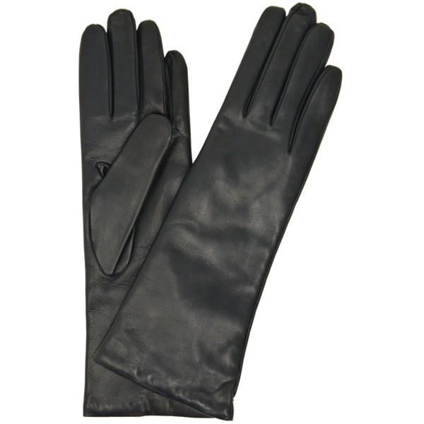 手袋 レディース レディス 暖かい カシミヤライニング イタリア製 本革 ナッパレザー グローブ シンプル セミロング ミドルレングス|carron|16