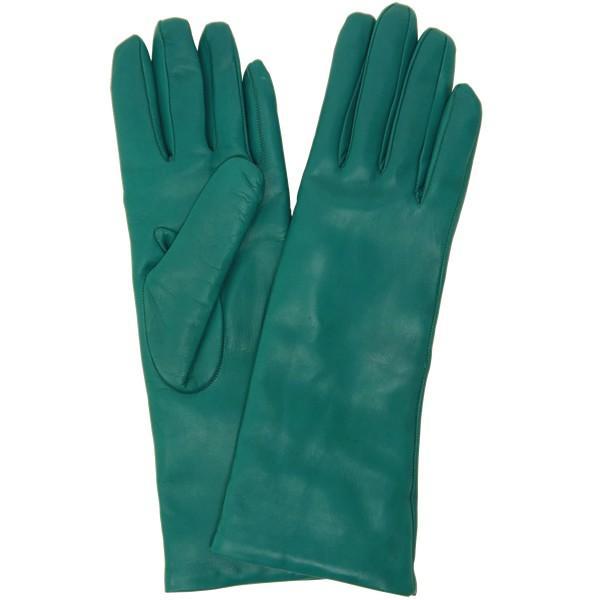 手袋 レディース レディス 暖かい カシミヤライニング イタリア製 本革 ナッパレザー グローブ シンプル セミロング ミドルレングス|carron|17
