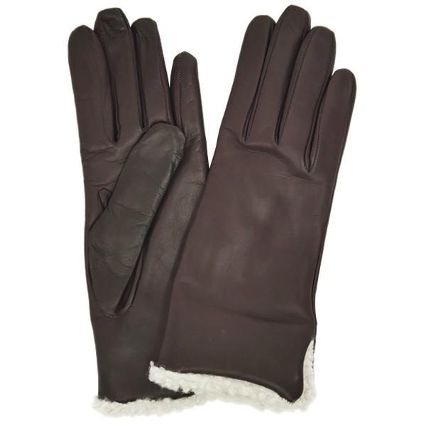 革手袋 レディース レディス カシミヤライニング ボア カフ イタリア製 本革 レザーグローブ|carron|14