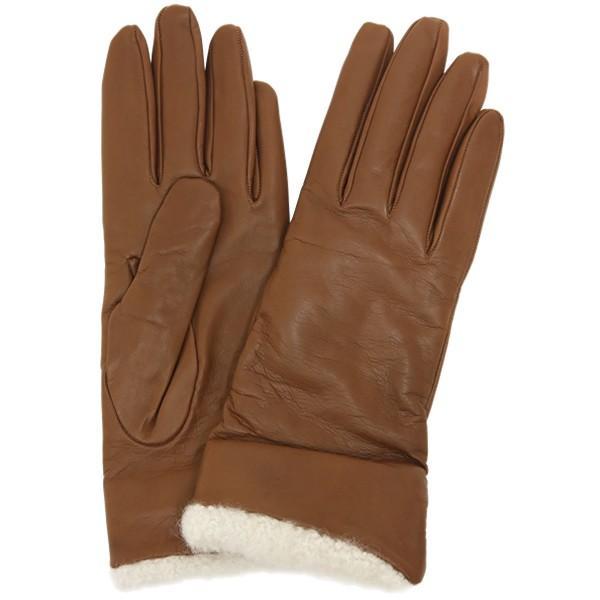 革手袋 レディース レディス カシミヤライニング ボア カフ イタリア製 本革 レザーグローブ|carron|12