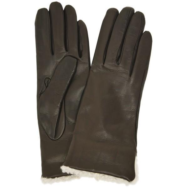 革手袋 レディース レディス カシミヤライニング ボア カフ イタリア製 本革 レザーグローブ|carron|13