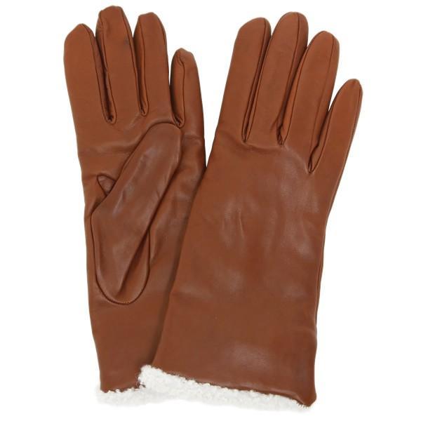 革手袋 レディース レディス カシミヤライニング ボア カフ イタリア製 本革 レザーグローブ|carron|15
