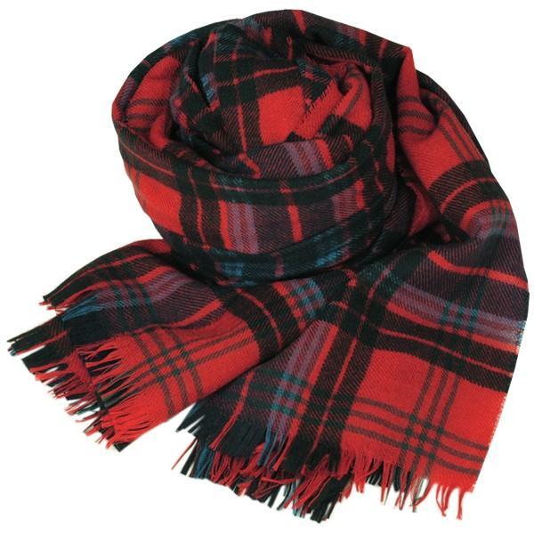 大判ストール レディース レディス タータン ウール マフラー 巻き方 アンゴラ混 薄手 タータンチェック 英国 ロキャロン Lochcarron of Scotland|carron|08
