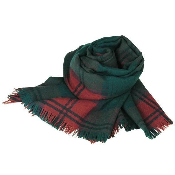大判ストール レディース レディス タータン ウール マフラー 巻き方 アンゴラ混 薄手 タータンチェック 英国 ロキャロン Lochcarron of Scotland|carron|07