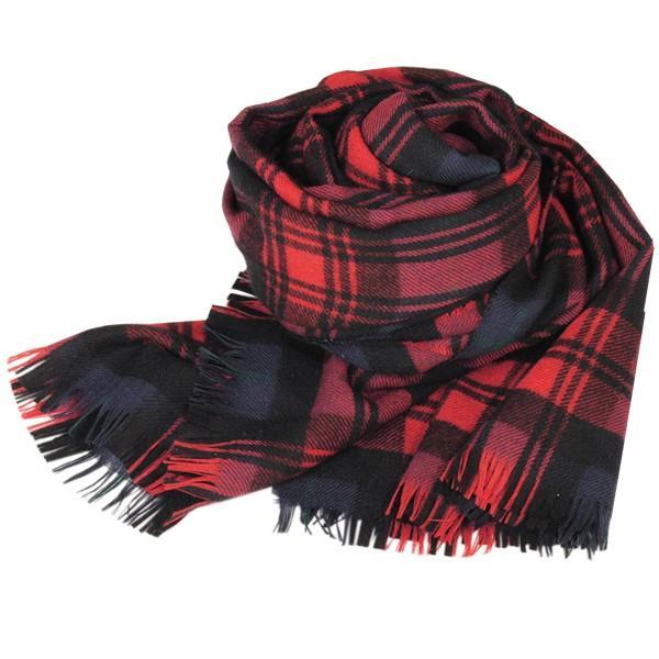 大判ストール レディース レディス タータン ウール マフラー 巻き方 アンゴラ混 薄手 タータンチェック 英国 ロキャロン Lochcarron of Scotland|carron|16