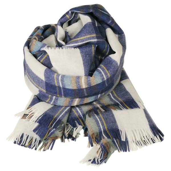 大判ストール レディース レディス タータン ウール マフラー 巻き方 アンゴラ混 薄手 タータンチェック 英国 ロキャロン Lochcarron of Scotland|carron|12