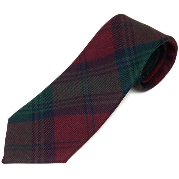 ネクタイ ブランド おしゃれ プレゼント メンズ タータンチェック柄 ロキャロン ウール100% 英国スコットランド製 Lochcarron of Scotland Men's brand carron 25