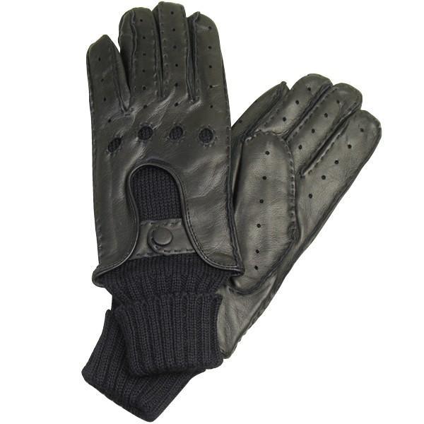 メンズ Men's ドライビンググローブ 革手袋 紳士用 本革 ナッパレザー ウール コンビ イタリア製 AntonioMurolo|carron|07