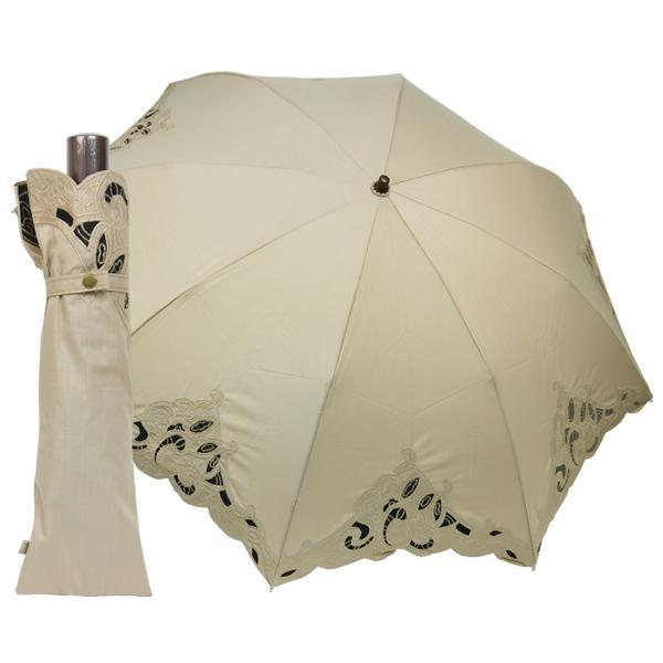 日傘 折りたたみ傘 晴雨兼用 レディース レディス UV 50cm 8本骨 レース エンブロイダリー|carron|09