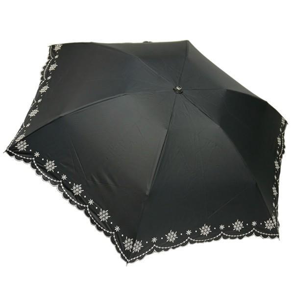 折りたたみ日傘 晴雨兼用 軽量 200g レディース レディス 99% 遮光 遮熱 UV 50cm フラワー リトルブーケ エンブロイダリー|carron|15