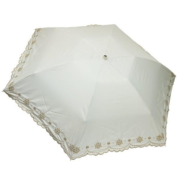 折りたたみ日傘 晴雨兼用 軽量 200g レディース レディス 99% 遮光 遮熱 UV 50cm フラワー リトルブーケ エンブロイダリー|carron|17