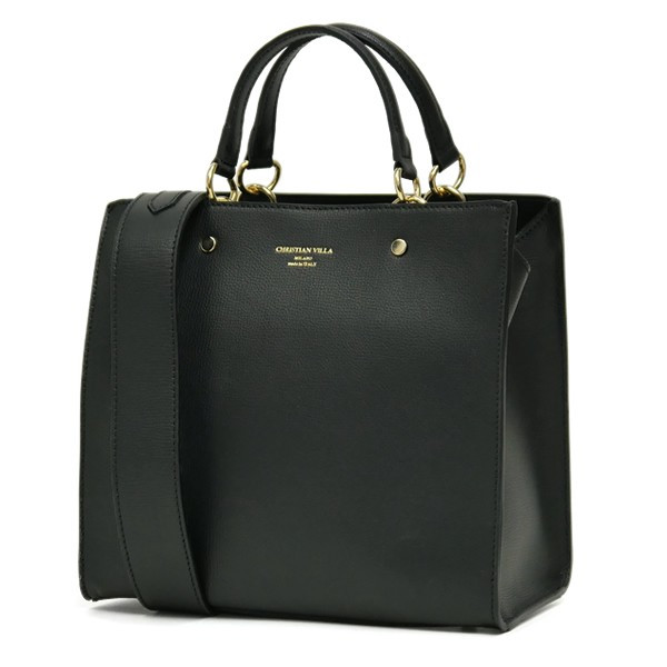 スクエアトートバッグ レディース 小さめ ハンドバッグ 本革レザー 2WAY ミニショルダーバッグ イタリアブランド CHRISTIAN VILLA brand レディス bag|carron|10