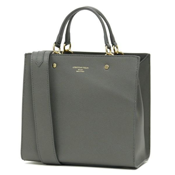 スクエアトートバッグ レディース 小さめ ハンドバッグ 本革レザー 2WAY ミニショルダーバッグ イタリアブランド CHRISTIAN VILLA brand レディス bag|carron|12