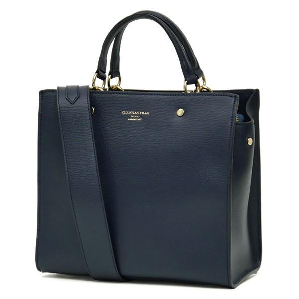 スクエアトートバッグ レディース 小さめ ハンドバッグ 本革レザー 2WAY ミニショルダーバッグ イタリアブランド CHRISTIAN VILLA brand レディス bag|carron|13