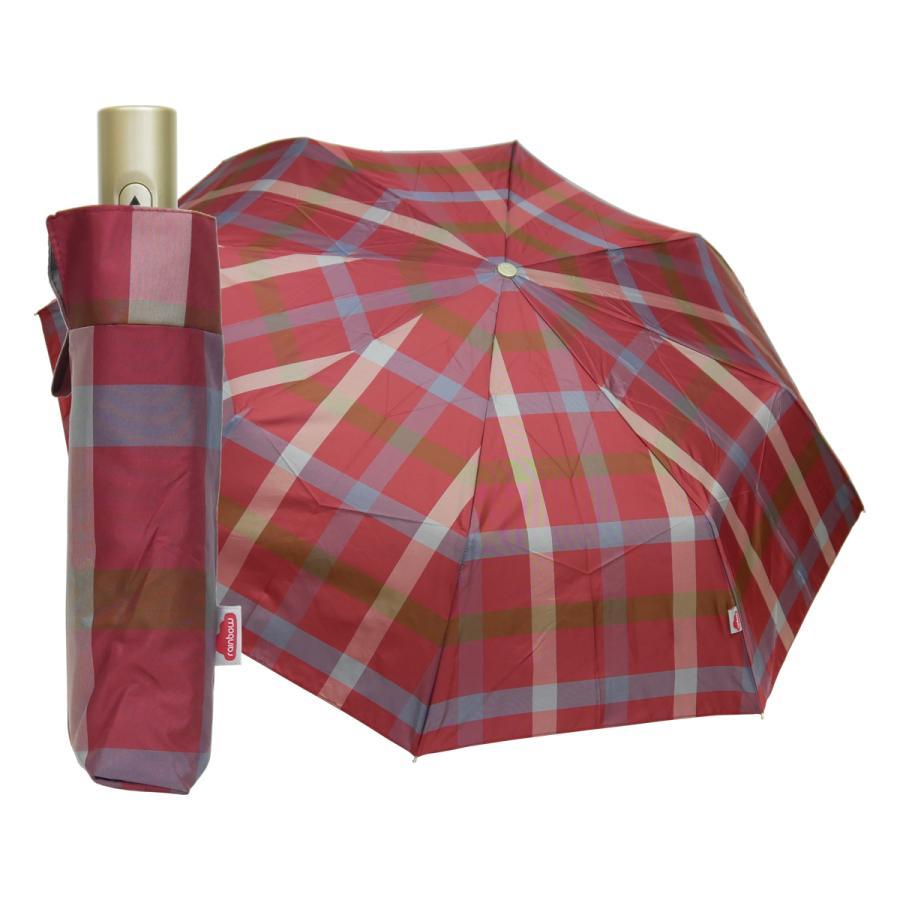 折りたたみ傘 自動開閉 おしゃれ 折り畳み傘 おすすめ チェック ワンタッチ 丈夫 ビジネス レディース レディス メンズ Men's 折りたたみ雨傘 イタリア rainbow|carron|24