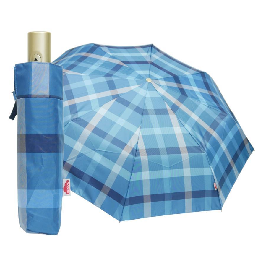 折りたたみ傘 自動開閉 おしゃれ 折り畳み傘 おすすめ チェック ワンタッチ 丈夫 ビジネス レディース レディス メンズ Men's 折りたたみ雨傘 イタリア rainbow|carron|23