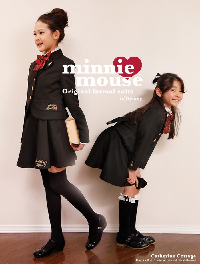 8c590b481cc24 入学式スーツ ディズニー 正規ライセンス 女の子 ミニーマウス スーツ4点 ...