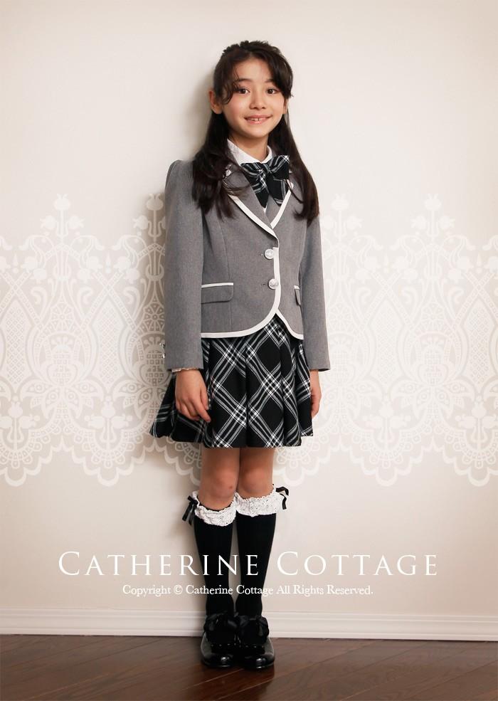 入学式スーツ 女の子 120cm グレー