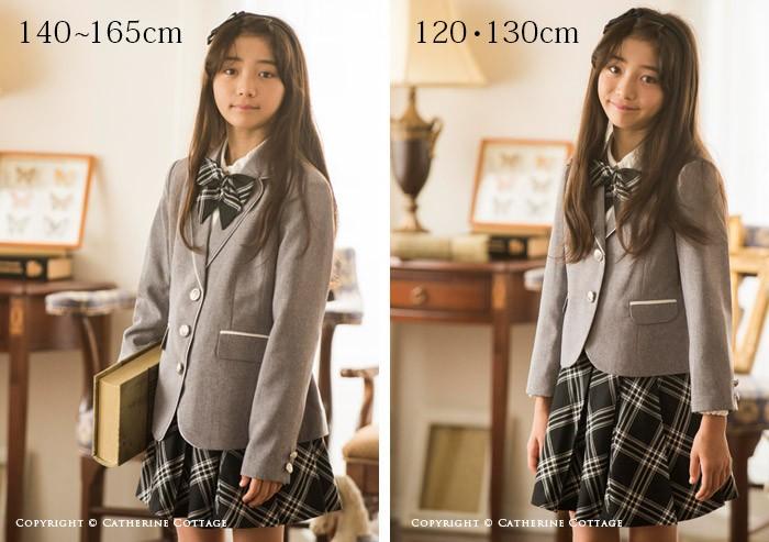 卒園式 入学式スーツ 女の子 120cm グレー