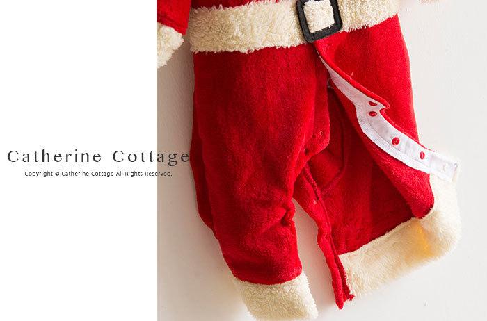 クリスマス ロンパース ワンピース カバーオール ジャンプスーツ フリース ベビー服 サンタ トナカイ