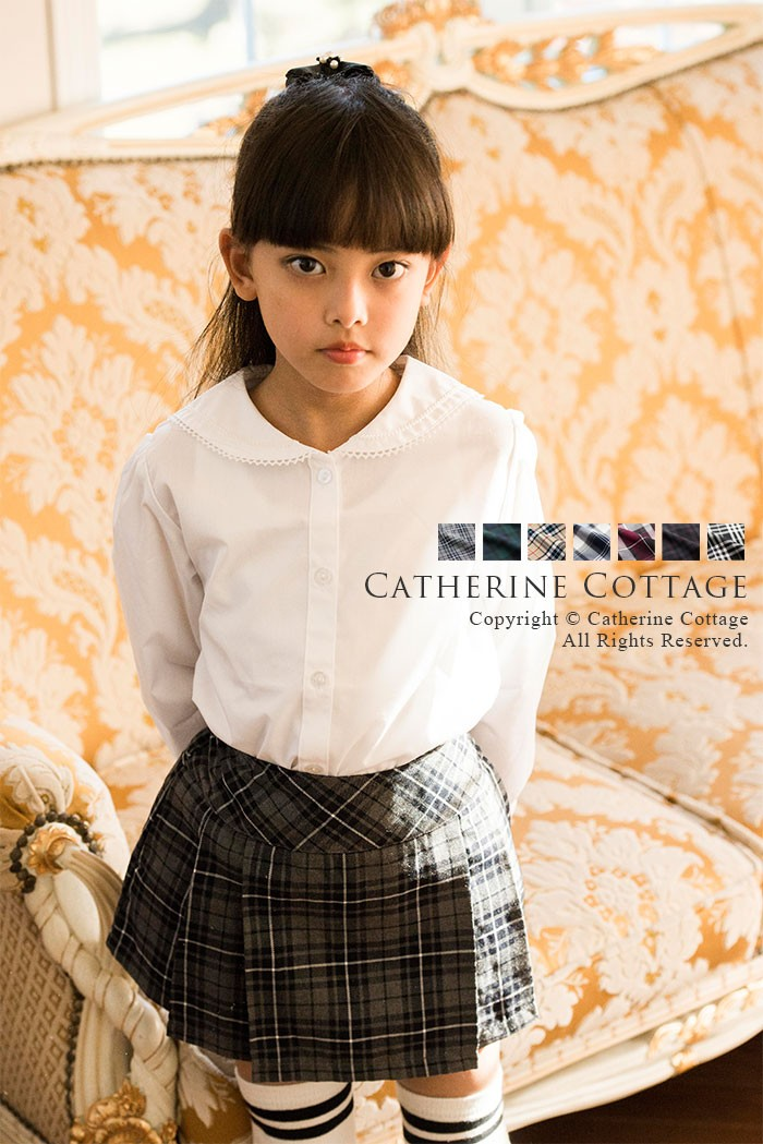 810cc5b6389a0 女の子 フォーマル キッズ ジュニア 制服風 チェック スカート キャサリンコテージオリジナル