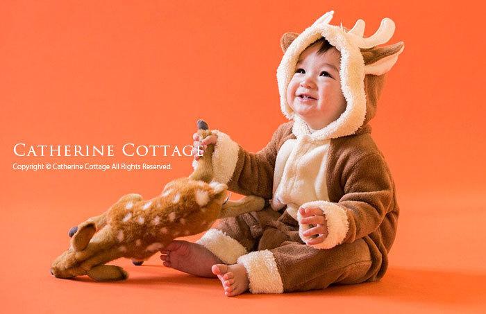 クリスマスもこもこロンパース ワンピース ベビー 着ぐるみ 仮装 コスプレ 衣装 キッズフォーマルと子供服の通販キャサリンコテージ