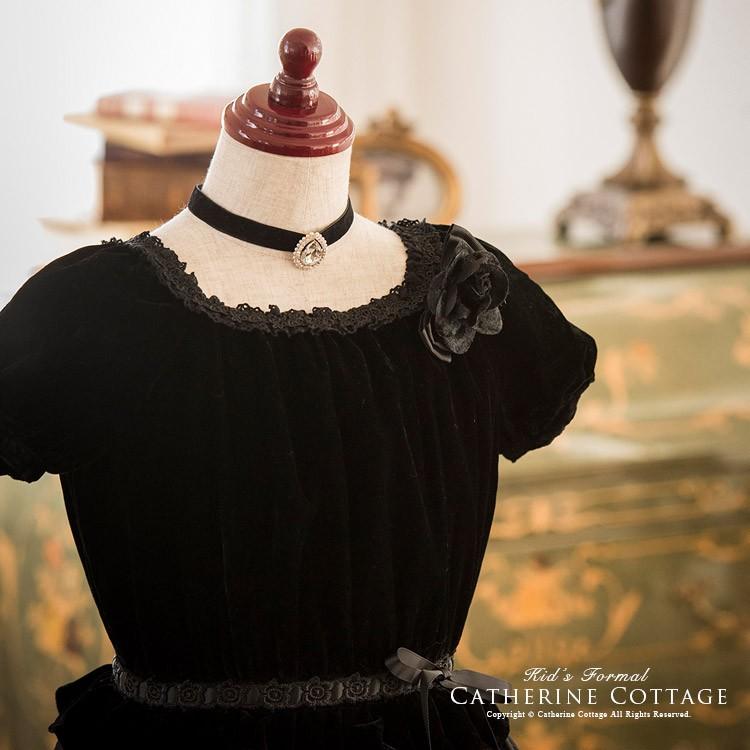 子供 ドレス 定番 フォーマル ギャザートップ バラプリントドレス