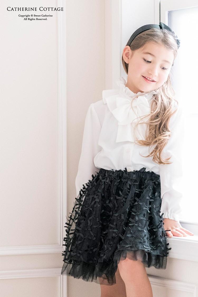 bac42e7b1badf 小学校 女子 子供服 入学式 ゆったり 長袖 フォーマル フリルブラウス ...