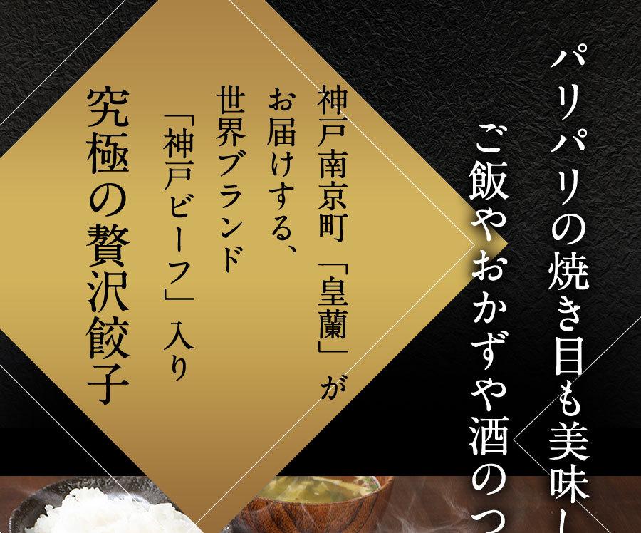 神戸南京町 皇蘭 神戸牛餃子 16個入り