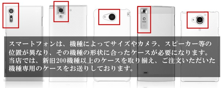 スマートフォンケースの形状説明