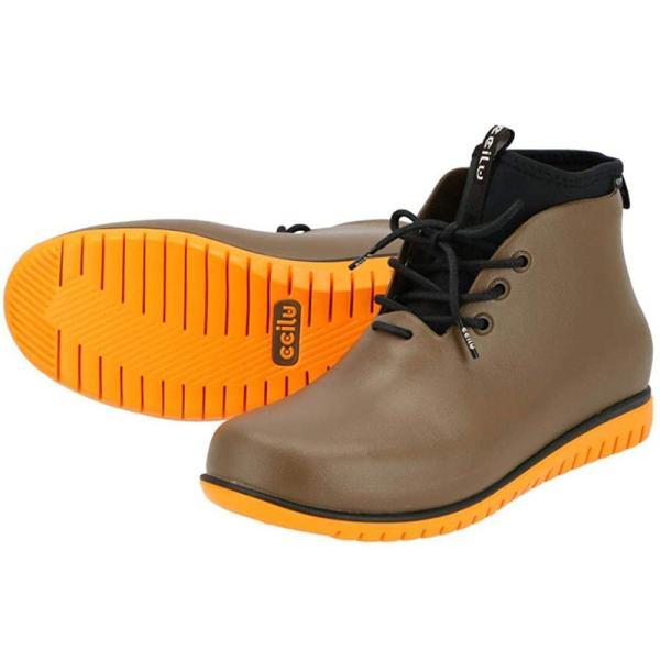 レインシューズ メンズ レインブーツ おしゃれ ショート 防水 雨 長靴 軽量 スニーカー チル ccilu アウトドア|ccilu|25
