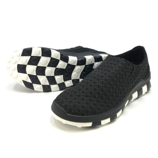 スリッポン メンズ 黒 軽量 チル ccilu horizone univers シューズ 靴 アウトドア BLACK WHITE 26.5|ccilu|07