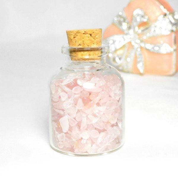 送料無料 パワーストーン さざれ石 ガラス小瓶 ローズクォーツ 水晶 タイガーアイ 天然石|ccr|10