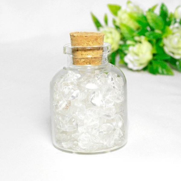 送料無料 パワーストーン さざれ石 ガラス小瓶 ローズクォーツ 水晶 タイガーアイ 天然石|ccr|09