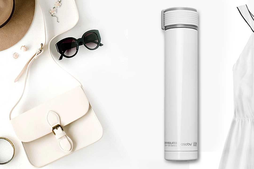 【選べるカラー】水筒 asobu ファッションボトル SKINNY MINI 230ml ステンレスボトル 直飲み 保温保冷 真空断熱 ドリンクボトル アソブ ウォーターボトル スキニーミニ ホワイト