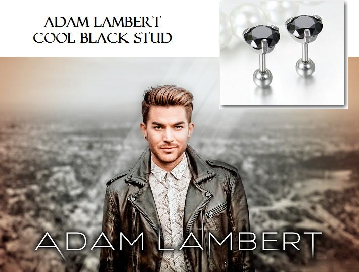ブラックダイヤモンド スタッドピアス|アダム・ランバート B系ヒップポップコレクション