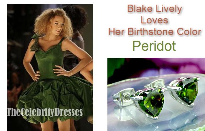 ペリドット ハートピアス 8月誕生石 ブレイクライブリー ファッション