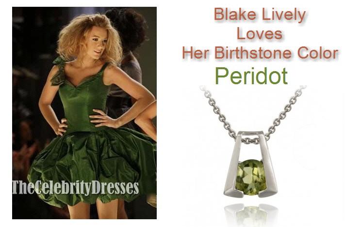 天然ペリドット馬蹄ネックレス 8月誕生石-幸運ネックレス ブレイクライブリー ファッション
