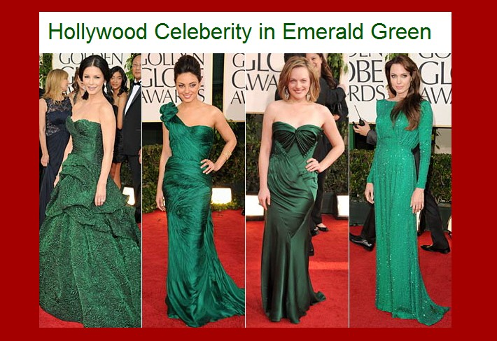 セレブファッション-エメラルドグリーン