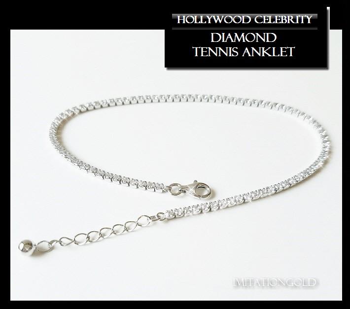ダイヤモンド テニス アンクレット|ジェニファー ロペス コレクション