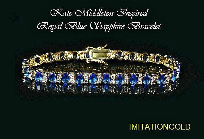 サファイア ダイヤモンド ゴールドブレスレット キャサリン妃ロイヤルファッション